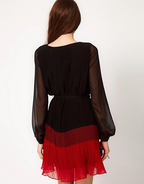Image 2 ofFrench Connection Shelby Stripe Pleat Dress