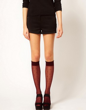 Image 1 ofFalke Dot Knee High Tights