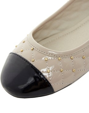 Image 2 ofLondon Rebel Toe Cap Ballerina Pump With Studs