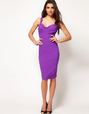 Image 4 ofHybrid Strappy Criss Cross Panel Pencil Dress