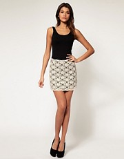 ASOS a Line Mini Skirt in Lace