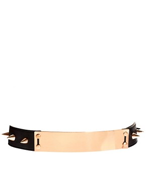 Image 1 ofASOS Plate And Spike Detail Waist Belt
