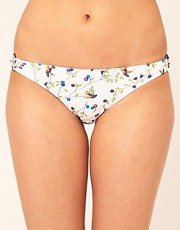 Hurley Bird Print Ring Hipster Bikini Bottom
