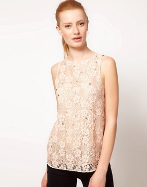 Image 1 ofOasis Lace Front Shell Top