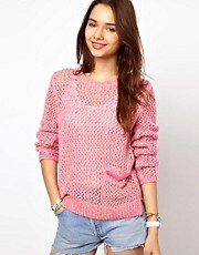 Superdry Cross Hatch Candy Crew Sweatshirt