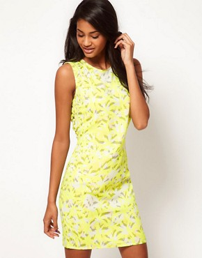 Image 2 ofASOS Printed Dress with Open Back