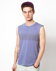 ASOS Sleeveless T-Shirt With Aztec Chest Print