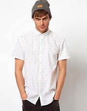 Selected Shirt with Button Down Collar