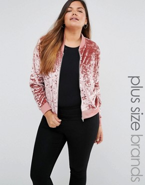 Missguided Plus Crushed Velvet Bomber