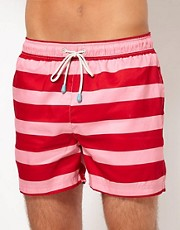 Oiler & Boiler Wide Hoops Shortie Swim Shorts