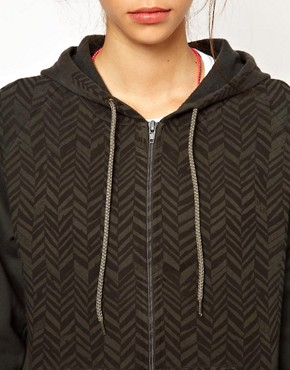 Image 3 ofSimeon Farrar Hoodie with Herringbone Print