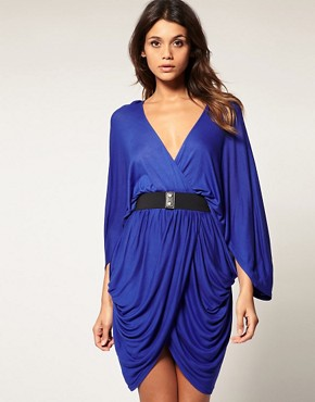 Image 1 ofASOS Kimono Waisted Dress with Belt