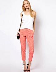 Whistles Fluro Animal Jacquard Trouser