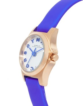 Image 4 ofMarc By Marc Jacobs Mini Henry Blue Leather Strap Watch