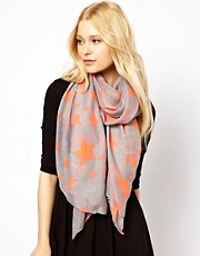 New Look Star Print Scarf