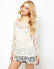 Goldie Crochet Tunic Top
