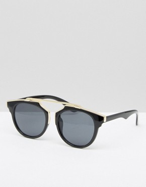 Pieces Sunglasses with Metal Brow Bar