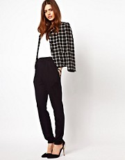ASOS Peg Pants with Zip Detail