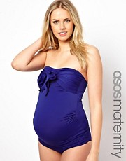 ASOS Maternity Exclusive Swimwear Tankini Top With Bow