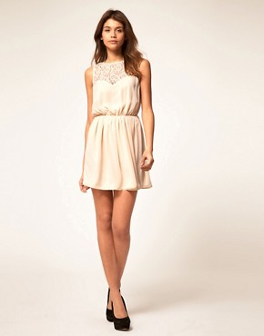 Image 4 ofASOS Skater Dress With Lace Cross Back