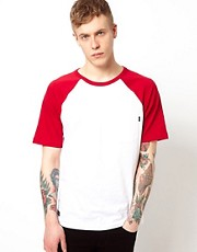WESC T-Shirt Castor Contrast Raglan Sleeve