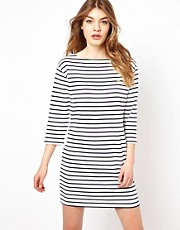 Fred Perry 3/4 Sleeve Breton Striped Dress