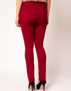 Image 2 ofASOS CURVE Exclusive Skinny Jean In Oxblood #4