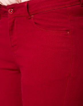 Image 3 ofASOS CURVE Exclusive Skinny Jean In Oxblood #4