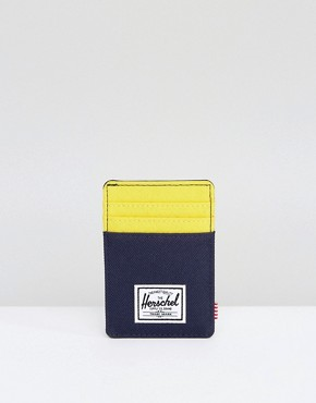 Herschel Supply Co Raven Clip Card Holder with RFID