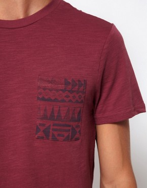 Image 3 ofRiver Island T-shirt with Aztec Pocket