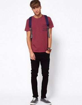 Image 4 ofRiver Island T-shirt with Aztec Pocket