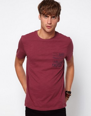 Image 1 ofRiver Island T-shirt with Aztec Pocket
