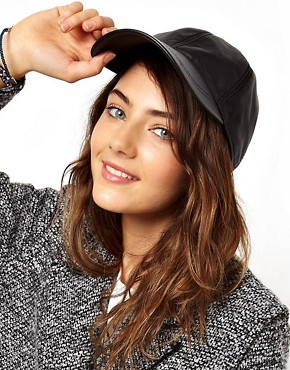 Image 1 ofASOS Leather Cap