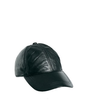 Image 2 ofASOS Leather Cap