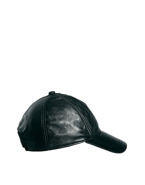 Image 4 ofASOS Leather Cap