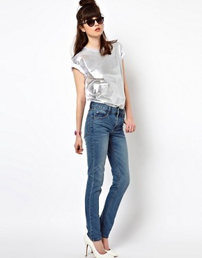 Image 4 ofCheap Monday Tight Light Wash Skinny Jeans