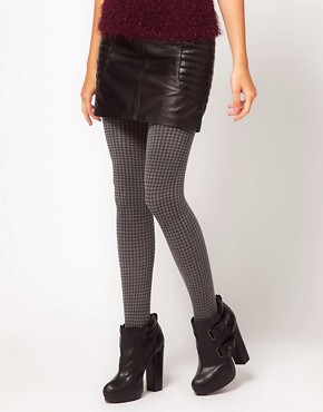 Image 1 ofWolford Tracy Houndstooth Tights
