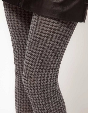 Image 2 ofWolford Tracy Houndstooth Tights