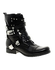 Bertie Prang Studded Biker Boots