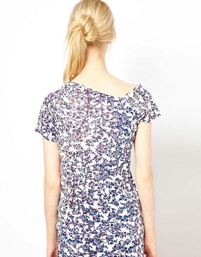 Image 2 of See By Chloe Blossom Print Assymetric Top