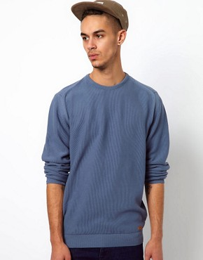 Image 1 ofBarbour Jumper with Pique Knit