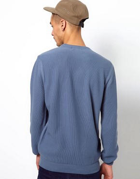 Image 2 ofBarbour Jumper with Pique Knit