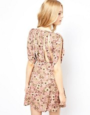 18 & East Floral Dress With Strapy Back