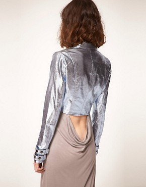Image 2 ofstylestalker Heavy Metallic Jacket