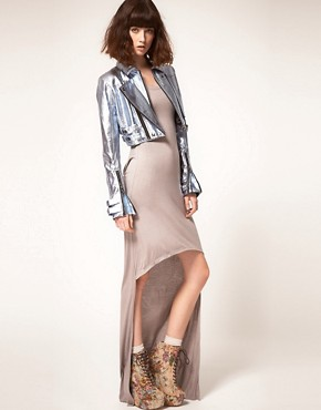 Image 4 ofstylestalker Heavy Metallic Jacket