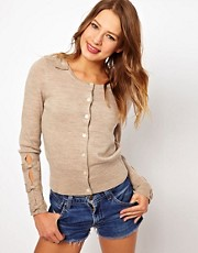 Juicy Couture Cardigan with Bow Detail on Shoulder and Sleeves
