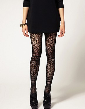 Image 1 ofASOS Crochet Lace Tights