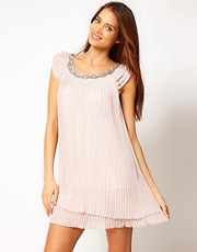 Lipsy Pleated Swing Dress