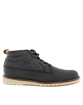 Image 4 ofLacoste Delevan Herringbone Shearling Boots