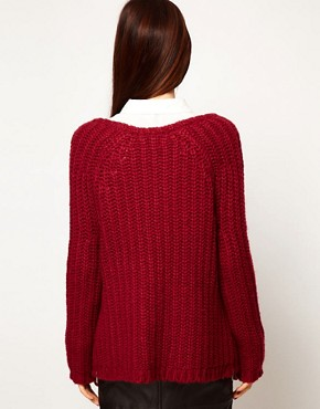 Image 2 ofASOS Zip Detail Chunky Jumper